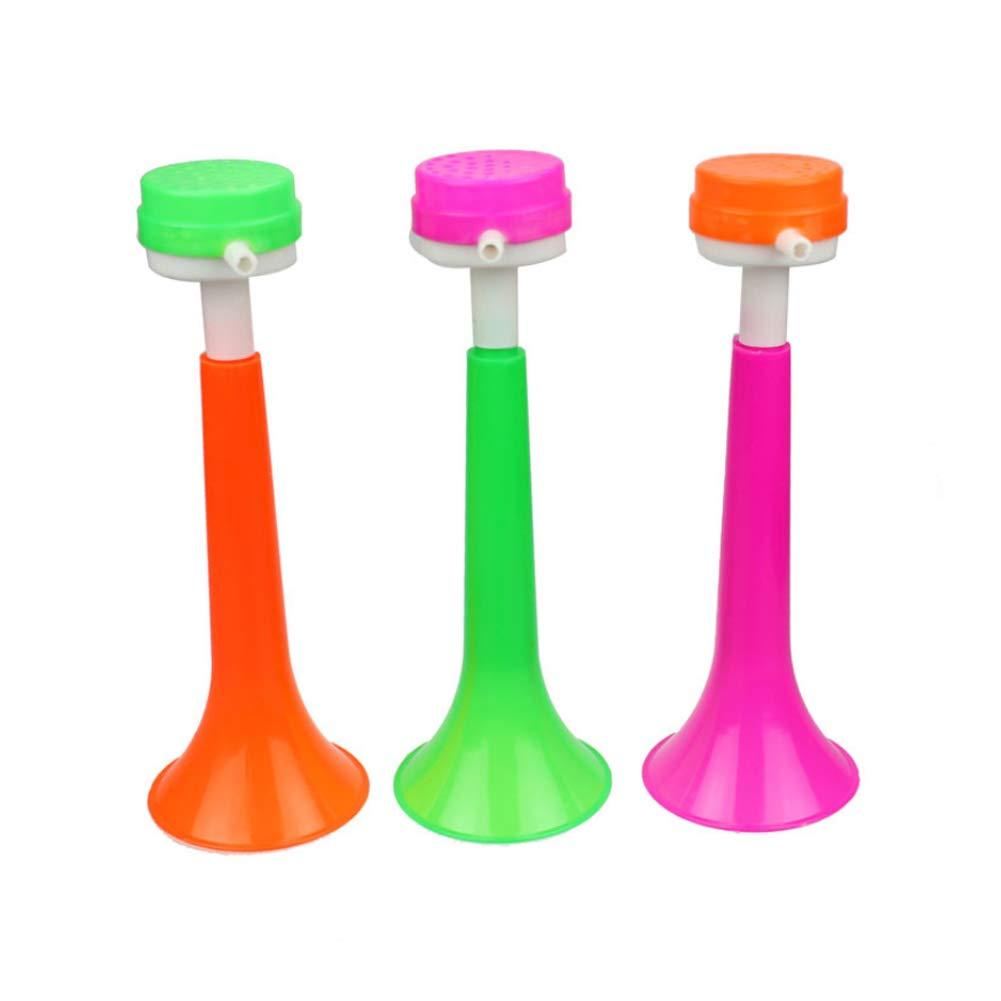 3-secci/ón retr/áctil fabricante del ruido del cuerno trompeta ni/ños de juguete juguetes educativos Cheer Props Halloween Party Supplies color al azar