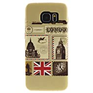 Pour Samsung Galaxy S7 edge Coque,Ecoway Housse étui en TPU Silicone Shell Housse Coque étui Case Cover Cuir Etui Housse de Protection Coque Étui Samsung Galaxy S7 edge –TX-05