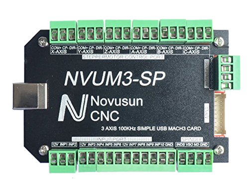Sunwin 100KHz 4 Axis USB MACH3 Card Driver Motion Controller Interface Breakout Board (3 axis)
