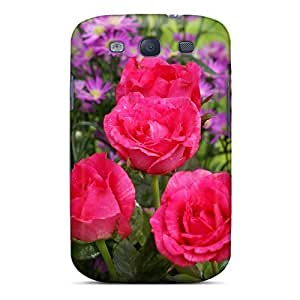 High-end Case Cover Protector For Galaxy S3(roses Wild Flowers)