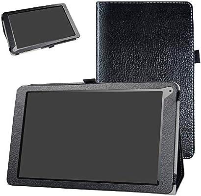Bige - Funda de Piel sintética Tipo Libro con función Atril para Tablet OYYU T11 de 10 Pulgadas 3G Android Negro Negro: Amazon.es: Electrónica