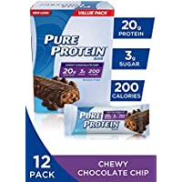 12-Pack Pure Protein Chewy Chocolate Chip Gluten Free Bars