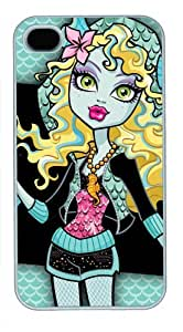 Iphone 4/4s Cover Lagoona Blue Monster, DIY White Skin Sides PC Hard Protector Case of Cecilydreaming