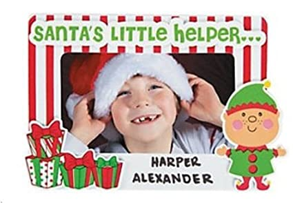 12 santas little helper picture frame magnet craft kits christmas craft kits