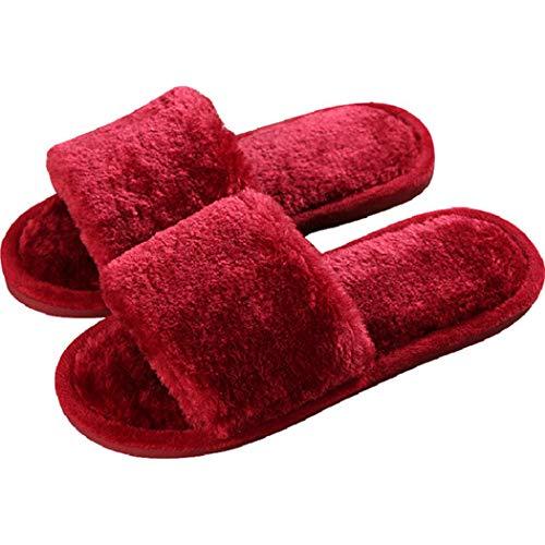Coeur Rouge Chaud Chaussures Belle Chambre Femmes Au Maison Pantoufles Donad Intérieur Coton Appartements Thermique D'hiver Bascule qTpZwT1Ix