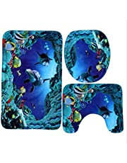 Three Piece Toilet Carpet Bathroom Mat For Home