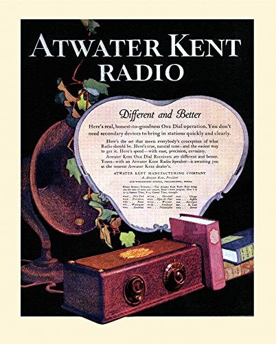 Back cover advertisment for the Atwater Kent Radio - Different and Better from the 1927 issue of Etude magazine Poster Print by unknown (18 x 24)