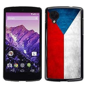 YiPhone /// Prima de resorte delgada de la cubierta del caso de Shell Armor - Czech Grunge Flag - LG Google Nexus 5 D820 D821