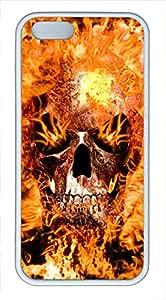 Flame Skull TPU White Slim Clear Iphone 5S Case - Pretty Cure Rouge Fire