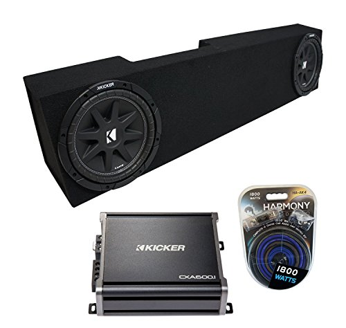 Compatible with 2006-2015 Dodge Ram Mega Cab Truck Kicker Comp C10 Dual 10″ Sub Box Enclosure & CXA600.1 Amp (Renewed)