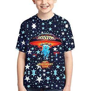 John J Littlejohn Boston-Rock Band Boy'S T-Shirts 3D Printed T-Shirt for Toddlers Kid'S Short-Sleeve Casual Tee