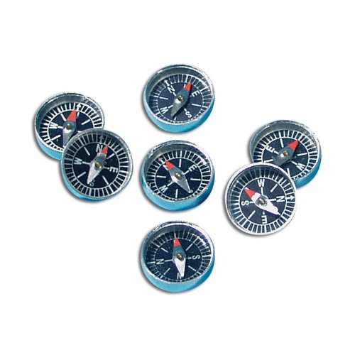 "School Specialty Magnetic Field Detection Compass, 3/8"" Diameter (Set of 10)"