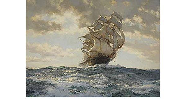 The Proud Ship Painting By Montague Dawson Print Poster