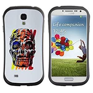 Be-Star Colorful Printed Design Anti-Shock Iface First Class Tpu Case Bumper Cover For SAMSUNG Galaxy S4 IV / i9500 / i9515 / i9505G / SGH-i337 ( skull wow time grey black red yellow ) Kimberly Kurzendoerfer