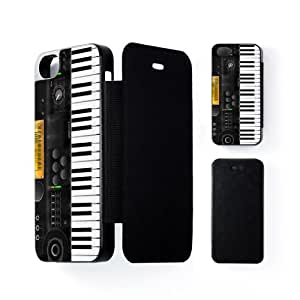 Electronic Keyboard Black Flip Case Snap-On Protective Hard Cover for Apple® iPhone 5 / 5s by Nick Greenaway + FREE Crystal Clear Screen Protector