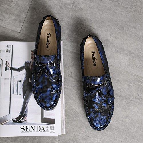 classique voiture Chaussures la L'Homme blue de Patins Casual qualité haute conduisant Chaussures Casual qFxTET8gw