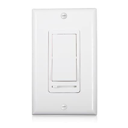 Rocker Light Switch >> Maxxima 3 Way Single Pole Decorative Led Slide Dimmer Rocker Switch Electrical Light Switch 600 Watt Max Led Compatible Wall Plate Included