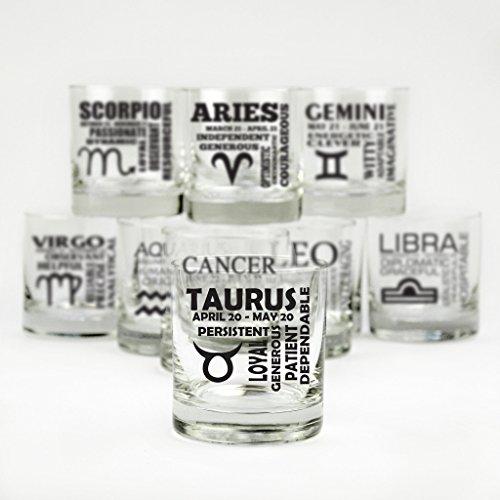 Zodiac Cocktail Glasses - Set of 12