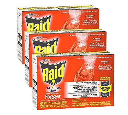 (Raid Concentrated Deep Reach Fogger, 1.5 OZ (Pack - 3))