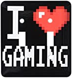 3dRose lsp_118894_2 Geeky Old School Pixelated Pixels 8-Bit I Heart I Love Gaming - Double Toggle Switch