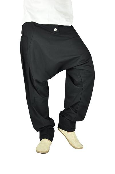 virblatt Pantalones cagados Mujer Harem Pants Pantalones Anchos Baggy - Freudentanz SCH SM