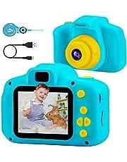 PROGRACE Kids Camera Kinderen Digitale Camera's voor Jongens Meisjes Verjaardag Speelgoed Geschenken 4-12 Jaar Oude Kid Action Camera Peuter Video Recorder 1080P IPS 2 Inch
