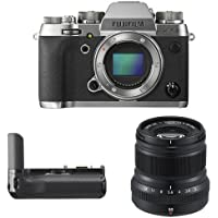 Fujifilm X-T2 Mirrorless Digital Camera (Graphite) w/ XF50mm F2 Black Lens & Vertical Power Booster