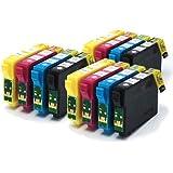 12pk Compatible Printer Ink Cartridges fit Epson Stylus SX535WD