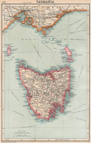 Map Showing Australia.Amazon Com Tasmania State Map Showing Counties Australia