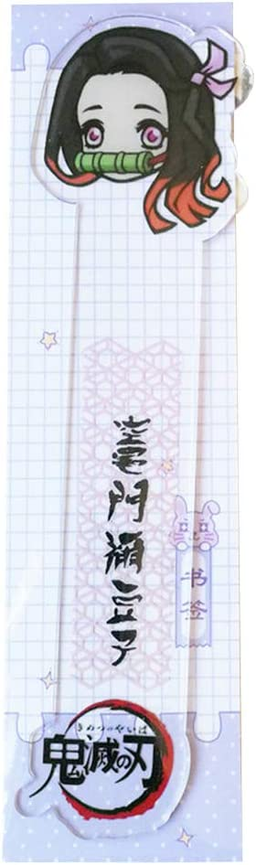 04 Kimetsu non Yaiba Marque-Page Enfant Student Kawaii Cadeau Signet Bureau Papeterie /École Learning Fournitures Zhenzhiao Anime Demon Slayer