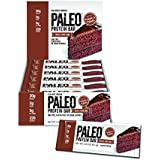 Paleo Protein Bar (Devils Food Cake) 12 Bars (20g Egg White Protein 5 Net Carbs)