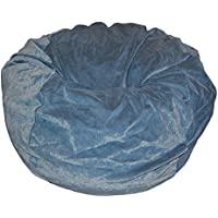 Ahh! Products Slate Blue Velvet Microsuede Washable Large Bean Bag Chair Plush
