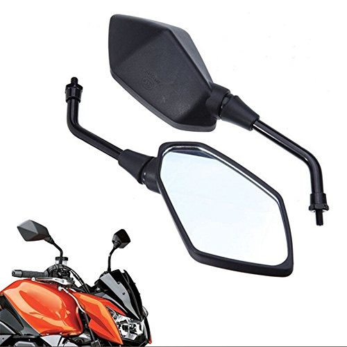 HTT GROUP Motorcycle Black Left and Right Rearview Mirrors For Kawasaki Z1000 Z750 Versys KLE 650 ZRX1100 ZRX1200 ER6B / ER-6N Zephyr 1100/750 KLE400 KLE500 Versys 1000