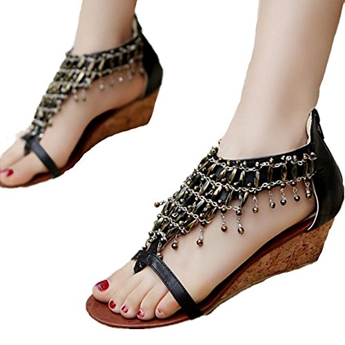 Shopping Sandales Style Ethnique Glands 5CM Quotidien xie Confort 38 34 Femme nTdPw6Ygg