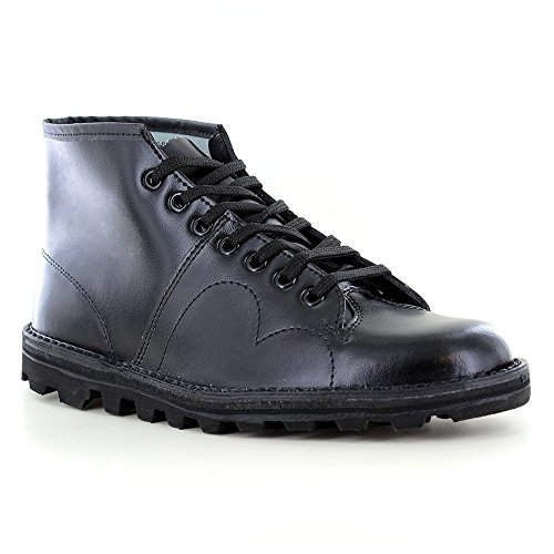 Men's Boys Leather Boots Roamer Nero Original Monkey fqpBnw41x