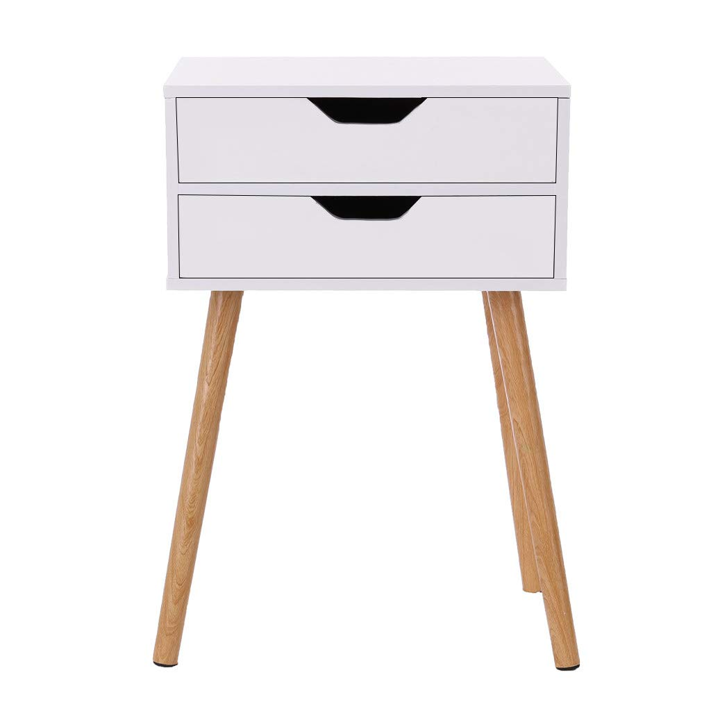 Chenway Bedside Table Simple Modern Bed Cabinet Storage Small Cabinet Simple Assembly Locker Dormitory Bedroom Assembly Bedside Cabinet [Ship from USA Directly] (A)