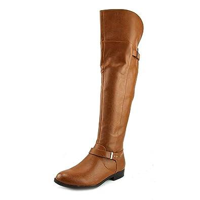 e0644b0ee3907 Bar III Womens Daphne Closed Toe Over Knee Riding Boots, Banana Bread, Size  9.0