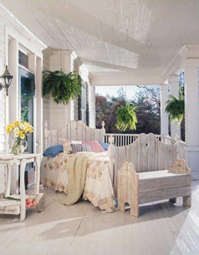 (Uwharrie Chair Co N143-19-Hunter-Dist-Pine Storage Bench, Hunter-Distressed)