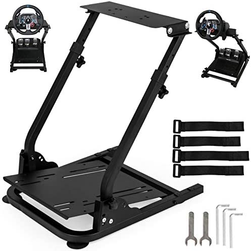 VEVOR G920 G29 Racing Wheel Stand fit for Logitech G27 G25 Gaming Wheel Stand fit for Thrustmaster Wheel Pedals NOT Included Shifter Mount NOT Included