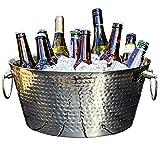 BREKX Insulated Hammered Stainless Steel Beverage Tub