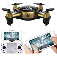 Owill YL S18 Foldable Camera Drone RC Mini Wifi Quadcopter 2.4 4CH 6-Axis Gyro Aircraft (Gold)