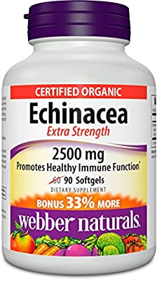 Webber Naturals Echinacea Extra Strength 2500 mg, 90 Count