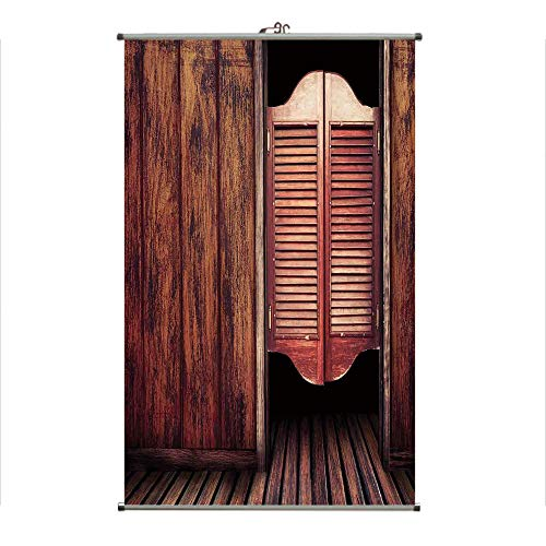 Wall Hanging Picture Wall Scroll Poster Fabric Painting,West Theme Swinging Cowboy Bar Saloon Door,3D Print Design Personality Customization Make Your Room unique23.6 - Door Swinging Restaurant Kitchen
