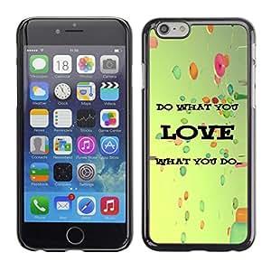 Planetar® ( Ami quello che fai Balloons Vignette Retro ) iPhone 6 Fundas Cover Cubre Hard Case Cover