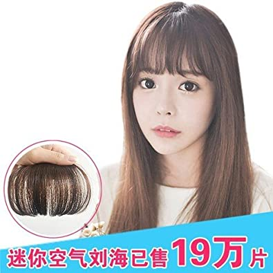 Amazon.com   Air bangs wig piece hair piece lifelike women girls female  temples Liu Qi oblique fake bangs invisible dogs and flow of the sea left  no trace   ... a718a87c175b