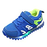 Axinke Toddlers Little Boys Girls Breathable Mesh Casual Outdoor Sports Shoes Led Light Sneakers (7 M US Toddler, Blue)