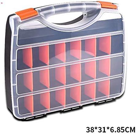 Fenteer 工具箱 ツールボックス 仕切り付き プラスチック 部品 パーツボックス 小物 収納ボックス ポータブル - 4.95x6.8x6.1cm