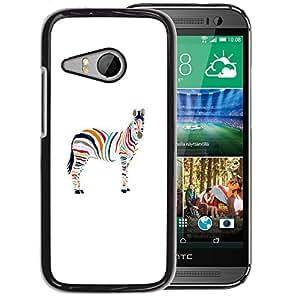 Planetar® ( Minimalist Zebra Artistic ) HTC ONE MINI 2 / M8 MINI Fundas Cover Cubre Hard Case Cover