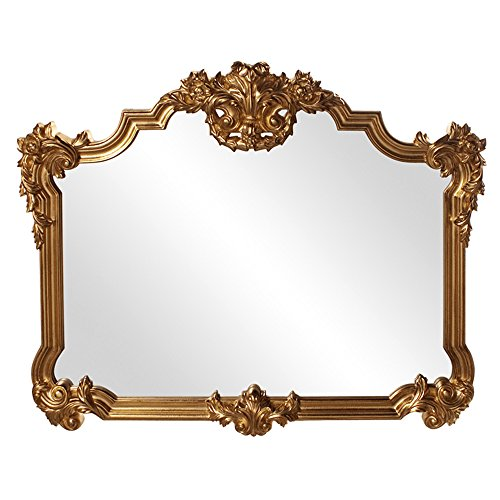 Collection Gold Leaf Finish - Howard Elliott 56006 Avondale Ornate Mirror, 48 x 39-Inch, Gold Leaf