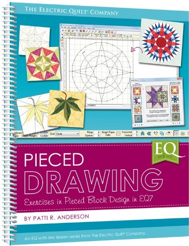 Pieced Drawing (2013) Spiral Large Format EQ7 Book Electric Quilt Company by Electric Quilt (Quilt Software Design)